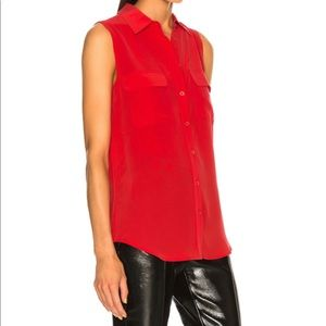 J. Crew red button down blouse